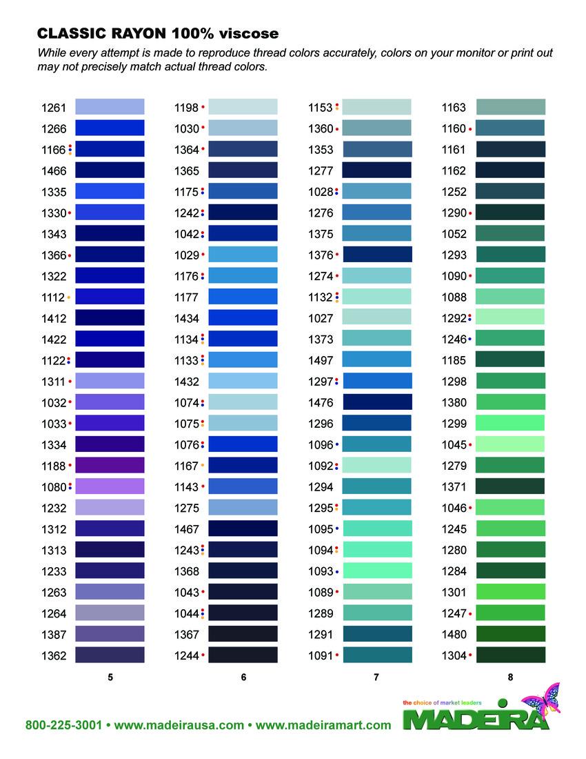 Madeira Classic Kleurenkaart 2015 - pagina 2
