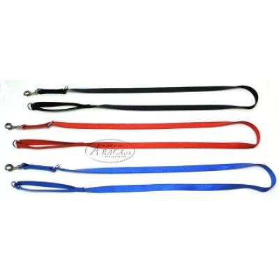 Nylon lijn 2-voudig verstelbaar - 15 mm breed - 110-200 cm lang - zwart