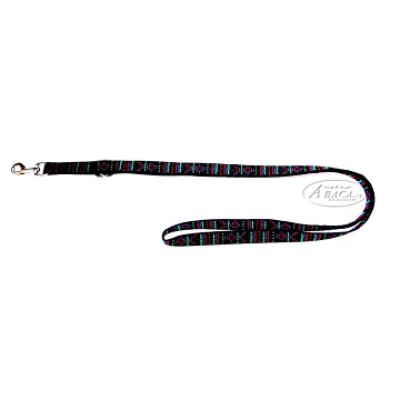Nylon lijn 2-voudig verstelbaar - 25 mm br. - 3 meter lang - indian black