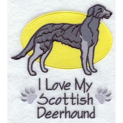 Borduurapplicatie Deerhound / Scottisch Deerhound EL001 - rechts kijkend