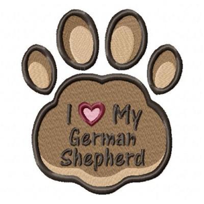 Borduurapplicatie Duitse Herdershond EL002
