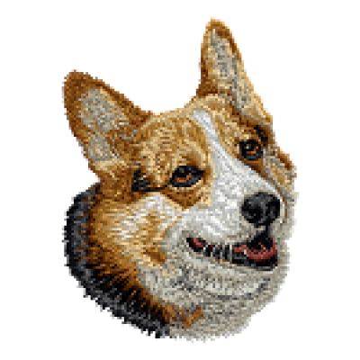 Borduurapplicatie Welsh Corgi Pembroke EMB006 - variant 1
