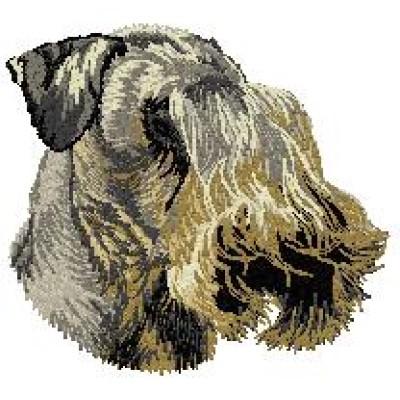 Borduurapplicatie Cesky Terrier EMB001 - rechts kijkend