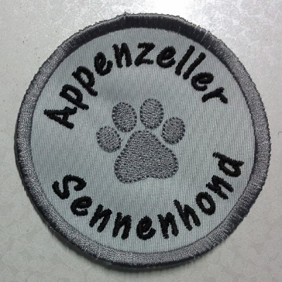Badge met pootje 35 mm en rasnaam Appenzeller Sennenhond