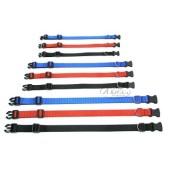 Nylon halsband met clicksluiting - 15 mm breed - 25-35 cm - zwart