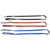 Nylon trainingslijn 20 mm. breed 2-voudig verstelbaar - Zwart, Rood, Blauw