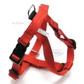 Drievoudig verstelbaar nylon tuig - rood