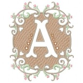 Amazing Embossed Monogram - Letter A