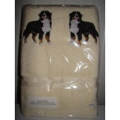 Badlaken 500 gr/m2 - Ecru - Applicaties: Berner Sennenhond EMB003 - ca. 10 cm.