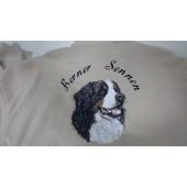 Fleece vest - Khaki/zwart - L - Berner Sennenhond AED001