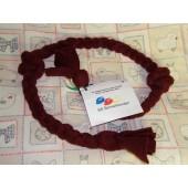 Fleece speeltje - 4-vlecht - rond