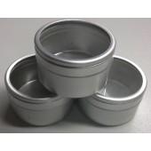 Geurdoosje aluminium met glazen deksel