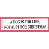 A dog is for life not just for Christmas - Ca. 6 * 22 cm - zwart/rood/wit