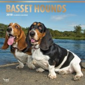 Kalender Basset Hound 2018 - BrownTrout - voorblad