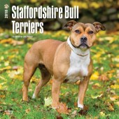 Kalender Staffordshire Bull Terrier 2018 - BrownTrout - voorblad
