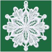Kerstornament - Sneeuwvlok (FSL)