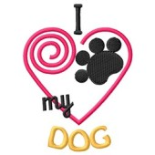 Borduurapplicatie 'I love my DOG'