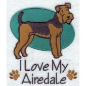 Borduurapplicatie Airedale Terrier EL001 - rechs kijkend