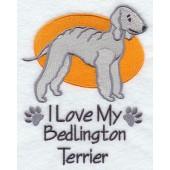 Borduurapplicatie Bedlington Terrier EL001 - rechts kijkend