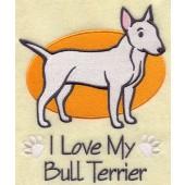 Borduurapplicatie Bull Terrier EL001 - rechts kijkend