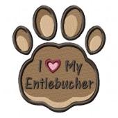 Borduurapplicatie Entlebucher Sennenhond EL002