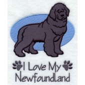 Borduurapplicatie Newfoundlander EL001 - rechts kijkend