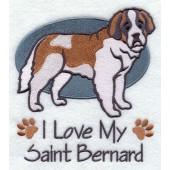 Borduurapplicatie Sint Bernard EL001 - rechts kijkend
