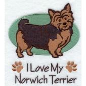 Borduurapplicatie Norwich Terrier EL001 - rechts kijkend