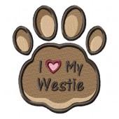 Borduurapplicatie West Highland White Terrier EL002