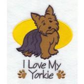 Borduurapplicatie Yorkshire Terrier EL001 - rechts kijkend