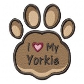 Borduurapplicatie Yorkshire Terrier EL002