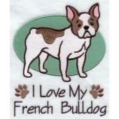 Borduurapplicatie Franse Bulldog EL001 - rechts kijkend