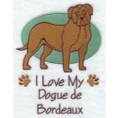Borduurapplicatie Bordeaux Dog EL001 - rechts kijkend