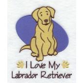 Borduurapplicatie Labrador Retriever EL001 - rechts kijkend