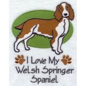 Borduurapplicatie Welsh Springer Spaniel EL001 - rechts kijkend