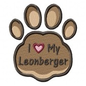 Borduurapplicatie Leonberger EL002
