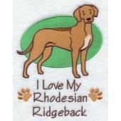 Borduurapplicatie Rhodesian Ridgeback EL001 - rechts kijkend