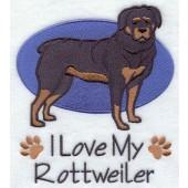 Borduurapplicatie Rottweiler EL001 - rechts kijkend