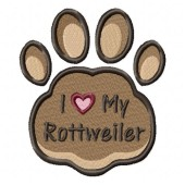 Borduurapplicatie Rottweiler EL002