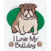 Borduurapplicatie Engelse Bulldog EL001 - rechts kijkend