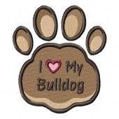 Borduurapplicatie Engelse Bulldog EL002