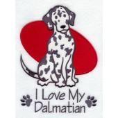 Borduurapplicatie Dalmatische Hond EL001 - rechts kijkend