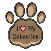 Borduurapplicatie Dalmatische Hond EL002