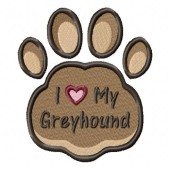 Borduurapplicatie Greyhound EL002