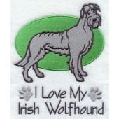 Borduurapplicatie Ierse Wolfshond EL001 - rechts kijkend