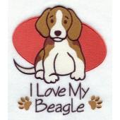 Borduurapplicatie Beagle EL001 - rechts kijkend
