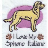 Borduurapplicatie Spinone Italiano EL001 - rechts kijkend