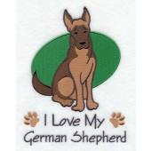 Borduurapplicatie Duitse Herdershond EL001 - rechts kijkend