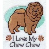 Borduurapplicatie Chow Chow EL001 - rechts kijkend