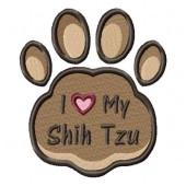 Borduurapplicatie Shih Tzu EL002